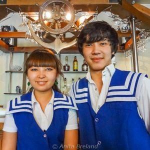 Staff at Captain Nemo, Bishkek, Kyrgyzstan
