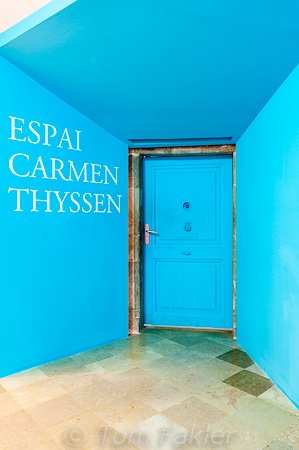 Entrance to Thyssen exhibition, Sant Feliu monastery