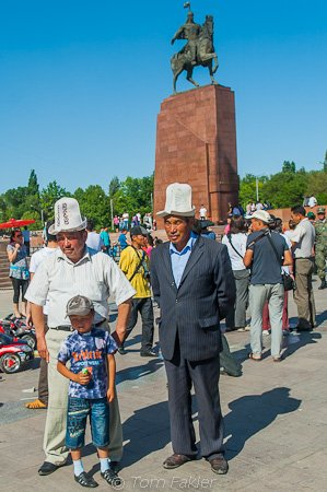 Celebrating 9 May in Bishkek