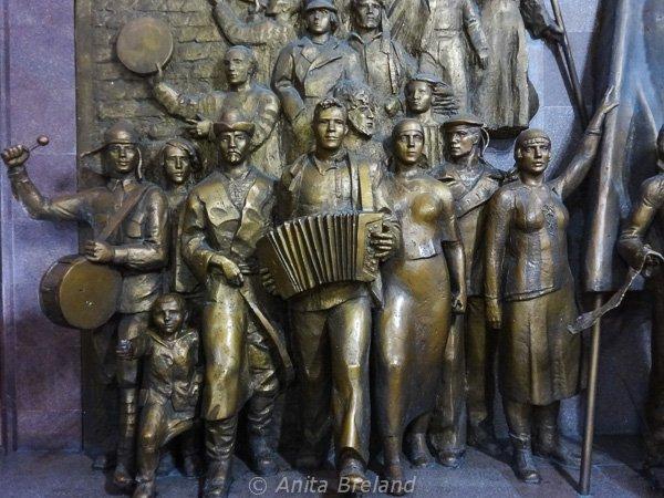 Bronze relief in the National Historical Museum, Bishkek