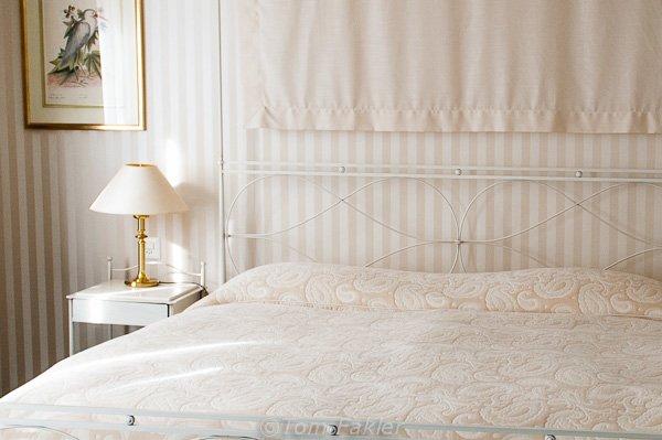 Bedroom at Wilden Mann, Lucerne, Switzerland