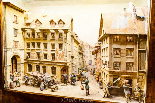 Diorama of the hotel in earlier days