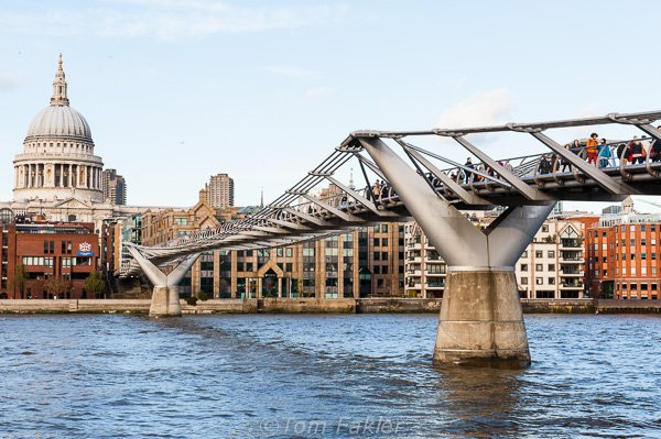 Footbridge over the Thames, London
