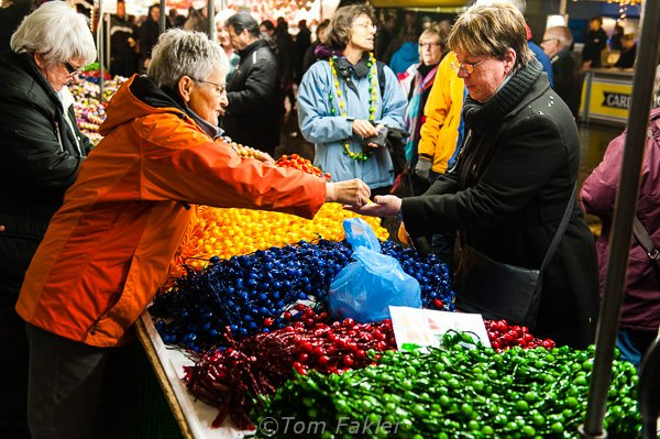 Selling candy necklaces, Bern Onion Market
