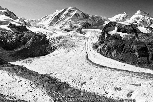 Grenz Glacier and Zumsteinspitze, Pennine Alps, Switzerland