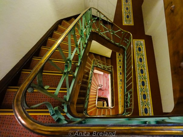 Staircase at the Wilden Mann, Lucerne, Switzerland
