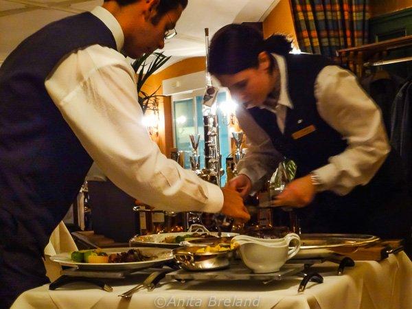Dinner is served! at the Wilden Mann, Lucerne, Switzerland