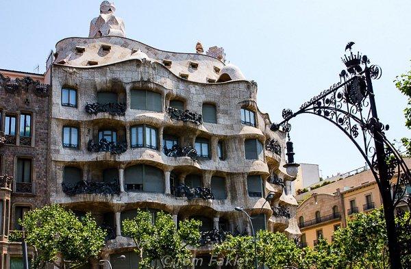 Undulating facade, Casa Milà, Barcelona, Spain