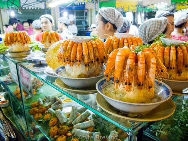 Prawns and coconut, Saigon, Vietnam