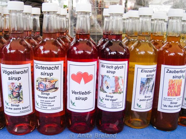 Syrups from the Bern Onion Market