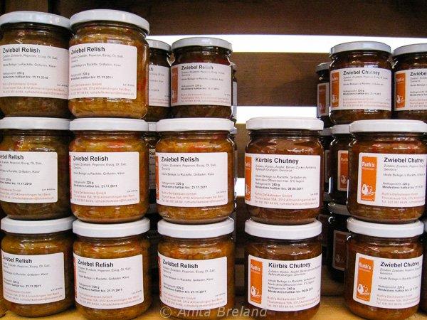 Chutneys and jams, Bern Onion Market
