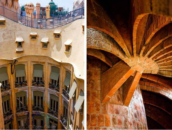 Roof and attic, Casa Milà, Barcelona, Spain