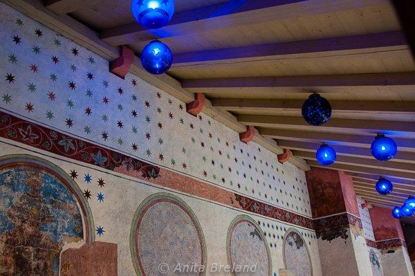 Blue crystal balls, Strasbourg Christmas