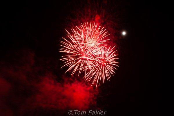 Fireworks over the Rhine