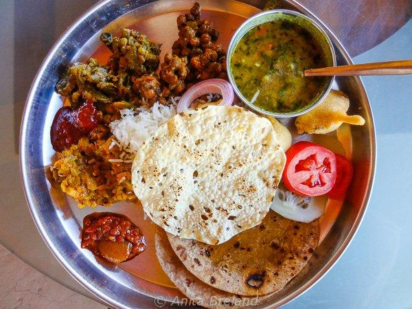 Breakfast thali, Gujarat